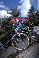 John Tomac.Downhill .World Championships , Bromont, Canada 1992.pic © Steve Behr/Stockfile