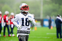 June 6, 2017: New England Patriots wide receiver Matthew Slater (18) takes part at the New England Patriots mini camp held on the practice field at Gillette Stadium, in Foxborough, Massachusetts. Eric Canha/CSM