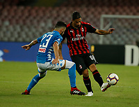 Ricardo Rodriguez  during the  italian serie a soccer match,  SSC Napoli - Milan      at  the San  Paolo   stadium in Naples  Italy , August 25, 2018