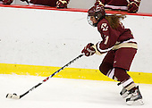 Caitlin Walsh (BC - 11) - The Harvard University Crimson defeated the Boston College Eagles 5-0 in their Beanpot semi-final game on Tuesday, February 2, 2010 at the Bright Hockey Center in Cambridge, Massachusetts.