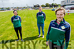 Members of the Killarney Legion LGFA club, launch their Kerry Hospice fundraiser in UHK on Friday.<br /> Front: Mairead O'Donoughe.<br /> Back l to r: Elizabeth Nohan and Isobelle Corridon