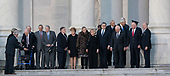 Dignitaries including members of his Cabinet await the arrival of the casket of former President George. H. W. Bush at the Capitol Rotunda in Washington, DC where he will lie state, December 3, 2018. Credit: Chris Kleponis / CNP