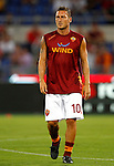 Calcio, Serie A: Roma-Catania. Roma, stadio Olimpico, 26 agosto 2012..AS Roma forward Francesco Totti warms up prior to the start of the Italian Serie A football match between AS Roma and Catania, at Rome, Olympic stadium, 26 August 2012. .UPDATE IMAGES PRESS/Isabella Bonotto