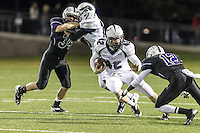 McNeil's Matthew Zebrowski (42) in play action against Cedar Ridge Thursday at Kelly Reeves Athletic Complex.  (LOURDES M SHOAF for Round Rock Leader)