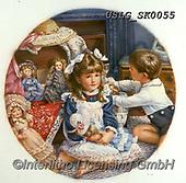 CHILDREN, KINDER, NIÑOS, paintings+++++,USLGSK0055,#K#, EVERYDAY ,Sandra Kock, victorian