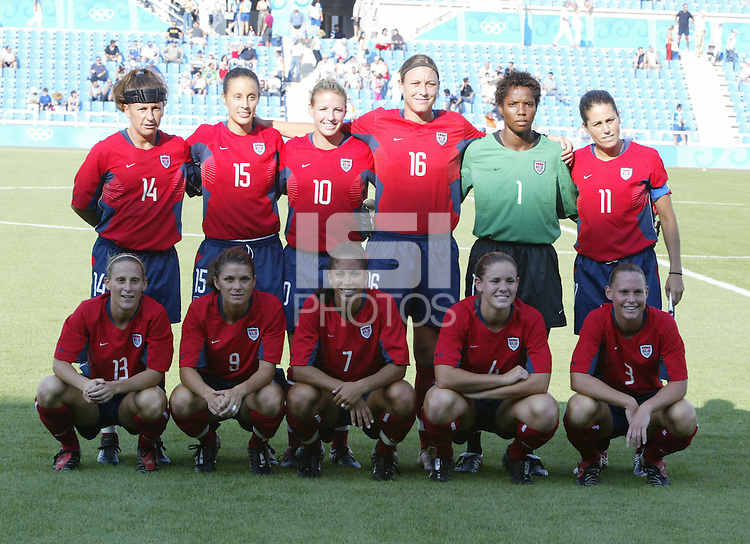 14 August 2004:    at Kaftanzoglio Stadium in Thessaloniki, Greece.   USA defeated Brazil, 2-0. Credit: Michael Pimentel / ISI