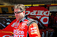 Apr 17, 2009; Avondale, AZ, USA; NASCAR Sprint Cup Series driver Tony Stewart during practice for the Subway Fresh Fit 500 at Phoenix International Raceway. Mandatory Credit: Mark J. Rebilas-