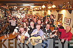 Arthurs day celebrations at Willie Darcys bar in the Square Tralee at 5.59 on Thursday.
