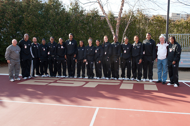December  05, 2011 - Bristol, CT - ESPN Campus:  Texas A&M Women's Basketball team tours ESPN..Credit: /ESPN