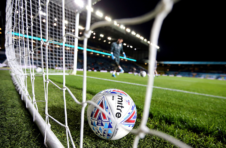 Leeds United players go through their warm-ups ahead of kick-off at Elland Road<br /> <br /> Photographer Rich Linley/CameraSport<br /> <br /> The EFL Sky Bet Championship - Tuesday 1st October 2019  - Leeds United v West Bromwich Albion - Elland Road - Leeds<br /> <br /> World Copyright © 2019 CameraSport. All rights reserved. 43 Linden Ave. Countesthorpe. Leicester. England. LE8 5PG - Tel: +44 (0) 116 277 4147 - admin@camerasport.com - www.camerasport.com
