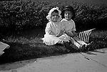Wilkinsburg PA:  Helen Stewart and friend watching the 4th of July Parade - 1918