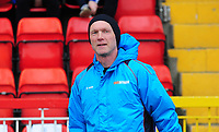 Gateshead manager Neil Aspin during the pre-match warm-up <br /> <br /> Photographer Andrew Vaughan/CameraSport<br /> <br /> Vanarama National League - Gateshead v Lincoln City - Monday 17th April 2017 - Gateshead International Stadium - Gateshead <br /> <br /> World Copyright &copy; 2017 CameraSport. All rights reserved. 43 Linden Ave. Countesthorpe. Leicester. England. LE8 5PG - Tel: +44 (0) 116 277 4147 - admin@camerasport.com - www.camerasport.com