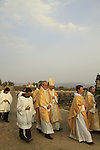 Israel, the Sea of Galilee, the Franciscan Pilgrimage to Capernaum, the Town of Jesus, the Custos of the Holy Land Fr. Pierbattista Pizzaballa ofm at the procession