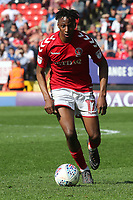 Joe Aribo of Charlton Athletic in action during Charlton Athletic vs Scunthorpe United, Sky Bet EFL League 1 Football at The Valley on 14th April 2018