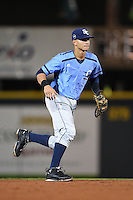 Charlotte Stone Crabs shortstop Willy Adames (2) during a game against the Bradenton Marauders on April 22, 2015 at McKechnie Field in Bradenton, Florida.  Bradenton defeated Charlotte 7-6.  (Mike Janes/Four Seam Images)