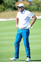 Charl Schwartzel (RSA) looks over his approach shot on 6 during round 1 foursomes of the 2017 President's Cup, Liberty National Golf Club, Jersey City, New Jersey, USA. 9/28/2017.<br /> Picture: Golffile   Ken Murray<br /> ll photo usage must carry mandatory copyright credit (&copy; Golffile   Ken Murray)