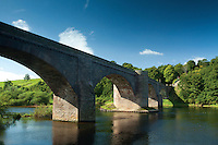 The Norham and Ladybank Bridge over the River Tweed at Norham, Northumberland