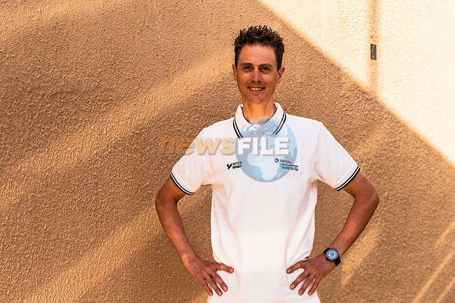 Niki Terpstra (NED) Team Total Direct Energie at the top riders press conference before the start of the Saudi Tour 2020 held in Riyadh, Saudi Arabia. 3rd February 2020. <br /> Picture: ASO/Kåre Dehlie Thorstad   Cyclefile<br /> All photos usage must carry mandatory copyright credit (© Cyclefile   ASO/Kåre Dehlie Thorstad)