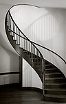Shaker Village at Pleasant Hill, Kentucky:<br /> Spiral staircase in the trustee house in the Shaker Village