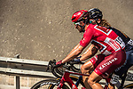Race leader Nathan Haas (AUS) Team Katusha-Alpecin and Shane Archbold (AUS) Aqua Blue Sport during Stage 3 of the 2018 Tour of Oman running 179.5km from German University of Technology to Wadi Dayqah Dam. 15th February 2018.<br /> Picture: ASO/Muscat Municipality/Kare Dehlie Thorstad | Cyclefile<br /> <br /> <br /> All photos usage must carry mandatory copyright credit (&copy; Cyclefile | ASO/Muscat Municipality/Kare Dehlie Thorstad)