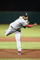 Salt River Rafters pitcher Enrique Burgos (48) during an Arizona Fall League game against the Scottsdale Scorpions on October 9, 2014 at Scottsdale Stadium in Scottsdale, Arizona.  Salt River defeated Scottsdale 6-3.  (Mike Janes/Four Seam Images)