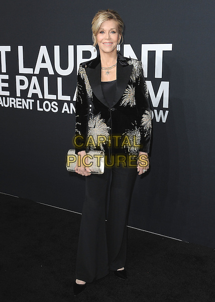 HOLLYWOOD, CA - FEBRUARY 10:  Jane Fonda at Saint Laurent at The Palladium at the Hollywood Palladium on February 10, 2016 in Hollywood, California. <br /> CAP/MPI/PGSK<br /> &copy;PGSK/MPI/Capital Pictures