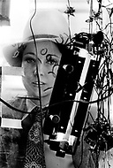 """1966. Manhattan, New York. 1966. France Raysse around NYC. She was wife and muse of french artist Martial Raysse, Who developed what became his """"vision hygiene"""" concept; a vision that showcases consumer society."""