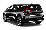 Car pictures of rear three quarter view of a 2018 Renault Grand Scenic initiale paris 5 Door Mini Van angular rear