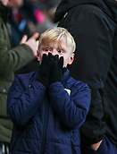 2nd February 2019, Turf Moor, Burnley, England; EPL Premier League football, Burnley versus Southampton; A young Burnley fan cant bear to look as his team are awarded a penalty in the 94th minute