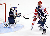 Andrew Martin (Toronto - 30), Charlie Coyle (BU - 3), Jeff Zippel (Toronto - 15) - The Boston University Terriers defeated the visiting University of Toronto Varsity Blues 9-3 on Saturday, October 2, 2010, at Agganis Arena in Boston, MA.