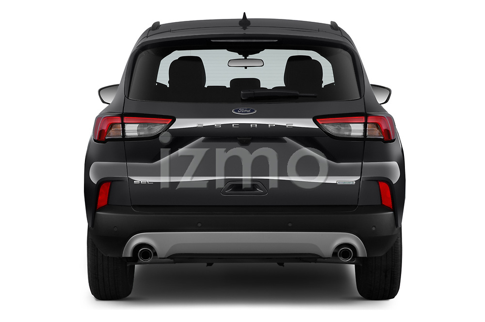 Straight rear view of a 2020 Ford Escape SEL 5 Door SUV stock images
