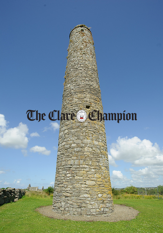 A general view of a round tower ruin on Scattery Island. Photograph by John Kelly.