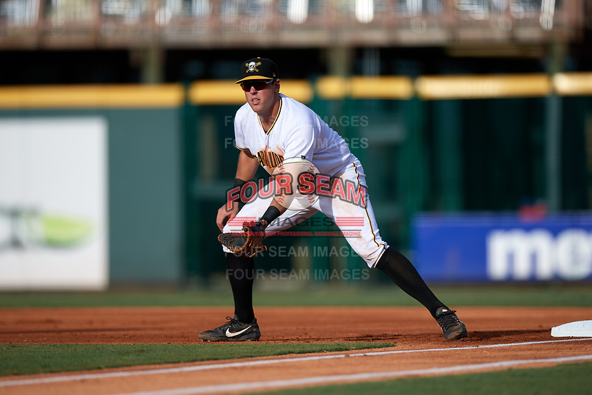 Bradenton Marauders first baseman Will Craig (22) during a game against the Clearwater Threshers on July 24, 2017 at LECOM Park in Bradenton, Florida.  Bradenton defeated Clearwater 6-3  (Mike Janes/Four Seam Images)