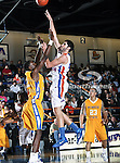 Texas-Arlington Mavericks forward Jordan Reves (55) in action during the game between the McNeese State Cowboys and the UTA Mavericks held at the University of Texas at Arlington's, Texas Hall, in Arlington, Texas.  McNeese State defeats UTA 81 to 72.