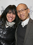 "Leigh Silverman and Francis Jue attending the Opening Night Performance for The Vineyard Theatre production of  ""Do You Feel Anger?"" at the Vineyard Theatre on April 2, 2019 in New York City."