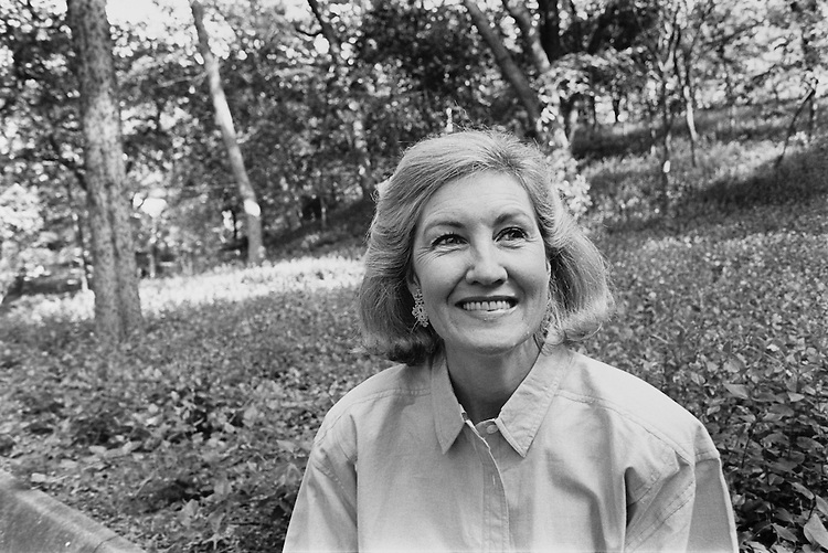 Senator Kay Bailey Hutchison, running for re-election for her first full Texas Senate term. April 25, 1993 (Photo by Maureen Keating/CQ Roll Call)