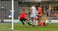 Blackpool's Adi Yussuf scores his sides 2nd goal<br /> <br /> Photographer Dave Howarth/CameraSport<br /> <br /> Football Pre-Season Friendly - AFC Fylde v Blackpool - Tuesday July 16th 2019 - Mill Farm - Fylde<br /> <br /> World Copyright © 2019 CameraSport. All rights reserved. 43 Linden Ave. Countesthorpe. Leicester. England. LE8 5PG - Tel: +44 (0) 116 277 4147 - admin@camerasport.com - www.camerasport.com