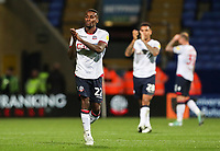 Bolton Wanderers' Lloyd Dyer applauds the home fans at the end of the match<br /> <br /> Photographer Andrew Kearns/CameraSport<br /> <br /> The EFL Sky Bet Championship - Bolton Wanderers v Blackburn Rovers - Saturday 6th October 2018 - University of Bolton Stadium - Bolton<br /> <br /> World Copyright &copy; 2018 CameraSport. All rights reserved. 43 Linden Ave. Countesthorpe. Leicester. England. LE8 5PG - Tel: +44 (0) 116 277 4147 - admin@camerasport.com - www.camerasport.com