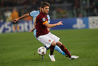 AS Roma's Adem Ljajic   during the Champions League Group E soccer match between As Roma and Manchester City  at the Olympic Stadium in Rome December 10 , 2014.