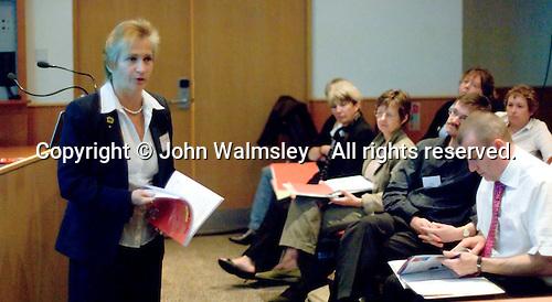 Delegates listen to a presentation by Barbara Prashnig at a Teaching Expertise conference in Birmingham..