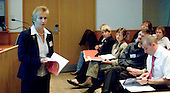 Delegates listen to a presentation by Barbara Prashnig at a Teaching Expertise conference in Birmingham..