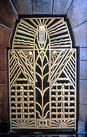 Vancouver: Marine Building, Lobby--heating grates next to elevator Bank. About 3 1/2 ft. tall.