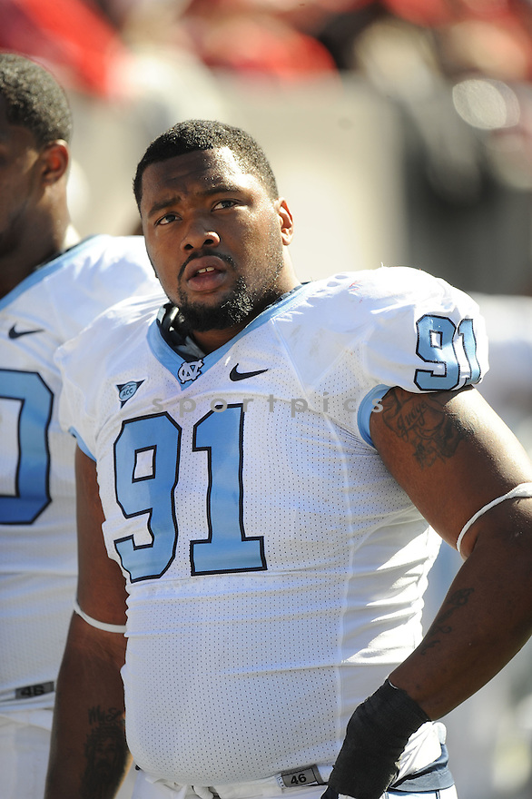 TYDREKE POWELL, of the University of North Carolina, in action during UNC's game against NC State on November 5, 2011 at Carter-Finley Stadium in Raleigh, NC. NC State beat North Carolina 13-0.
