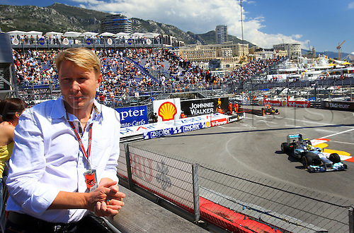 24.05.2012.Monte Carlo, Monaco.  Former Finnish Formula 1 World Champion, Mika Hakkinen, seen next to the track during the first practice session at the F1 race track of Monte Carlo, 24 May 2012. The Grand Prix will take place on 27 May.