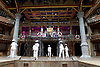 Twelfth Night <br /> by William Shakespeare <br /> directed by Emma Rice <br /> at Globe Theatre, Bankside, London, Great Britain <br /> press photocall <br /> 23rd May 2017 <br /> <br /> press night is on 24th May 2017 <br /> <br /> <br /> <br /> OPENING <br /> <br /> Le Gateau Chocolat as Feste <br /> <br /> Marc Antolin as Sir Andrew Aguecheek<br /> <br /> Carly Bawden as Maria <br /> <br /> Nandi Bhebhe as Fabian <br /> <br /> Tony Jayawardena as Sir Toby Belch <br /> <br /> Pieter Lawman as Antonio <br /> <br /> Kandaka Moore <br /> <br /> Theo St Clare <br /> <br /> Annette McLaughlin as Olivia <br /> <br /> Anita Joy Uwajeh as Viola <br /> <br /> Joshua Lacey as Orsino <br /> <br /> Katy Owen as Malvolio <br /> <br /> John Pfumojena as Sebastian <br /> <br /> <br /> <br /> <br /> Photograph by Elliott Franks <br /> Image licensed to Elliott Franks Photography Services