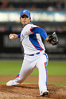 19 March 2009: #17 Seung Hwan Oh of Korea pitches against Japan during the 2009 World Baseball Classic Pool 1 game 6 at Petco Park in San Diego, California, USA. Japan wins 6-2 over Korea.
