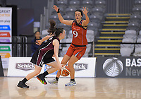 Action from the 2019 Schick AA Girls' Secondary Schools Basketball National Championship final between St Peters School Cambridge and Hamilton Girls' High School at the Central Energy Trust Arena in Palmerston North, New Zealand on Saturday, 5 October 2019. Photo: Dave Lintott / lintottphoto.co.nz
