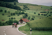 breakaway group was off right from the start of the race in Gansingen<br /> <br /> Stage 4: Gansingen &gt; Gstaad (189km)<br /> 82nd Tour de Suisse 2018 (2.UWT)