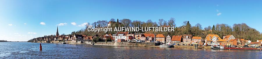 Lauenburg an der Elbe: EUROPA, DEUTSCHLAND, SCHLESWIG- HOLSTEIN, Lauenburg, (GERMANY), 20.03.2018: Stadtansicht von Lauenburg an der Elbe