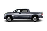 Car driver side profile view of a 2018 Toyota Tundra TRD Sport Crew Cab 4 Door Pick Up
